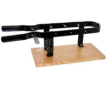 INALSA Soporte para jamón con base de madera y estructura en pinza de metal, 59x22x13 centímetros 1 unidad