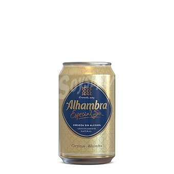 Alhambra Cerveza sin alcohol Lata de 33 centilitros
