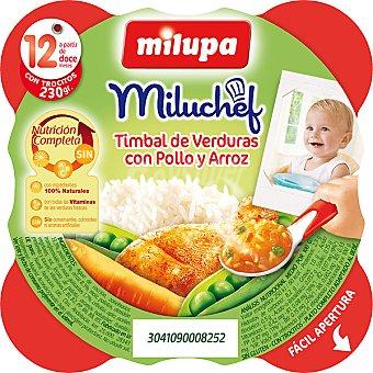 Milupa Miluchef Tarrito timbal de verduras con pollo y arroz a partir de 12 meses Envase 230 g