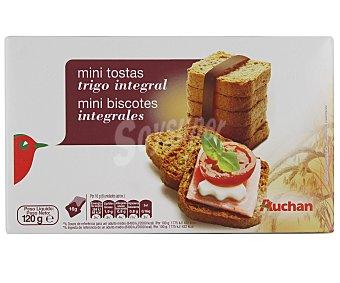 Auchan Mini Biscotes Integrales de Trigo 120 Gramos (60 Unidades)