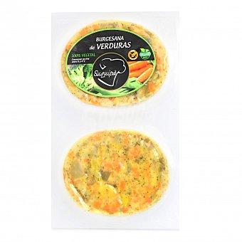 Suquipà Hamburguesa de Verduras 100% Vegetal Burguesana (2x90g) 180 G 2 x 90 g