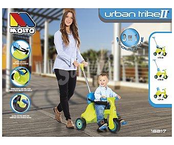 MOLTÓ Urban Trike Triciclo evolutivo nuevo Urban Trike II 3 en 1, color verde MOLTÓ.