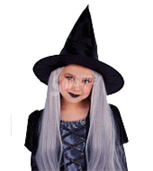 INFANTIL Sombrero bruja con pelo