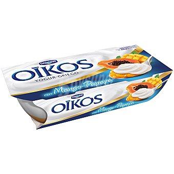 Oikos Danone Yogur griego con mango y papaya pack 2 unidades 115 gr Pack 2 unidades 115 gr
