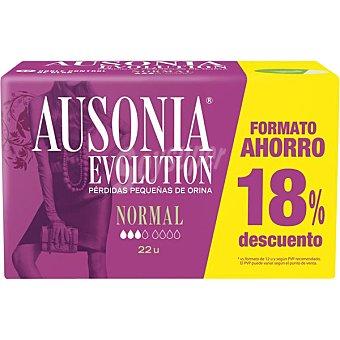 AUSONIA EVOLUTION Compresa de incontinencia normal para pequeñas perdidas bolsa 22 unidades Bolsa 22 unidades