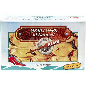 REMO Mejillones al natural 12-14 piezas Lata 115 g