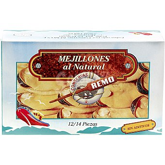 REMO Mejillones al natural 12-14 piezas lata 115 g Lata 115 g