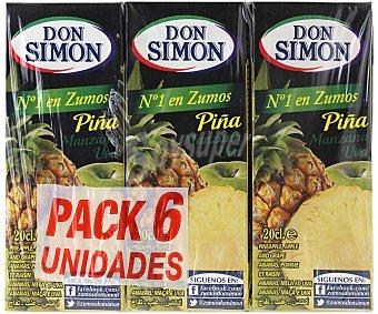 Don Simón Zumo de piña y uva con vitamina C Pack de 6x20cl