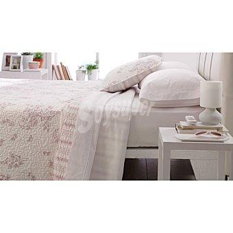 CASACTUAL MM 2021A Colcha bouti con flores en color malva para cama 135 cm