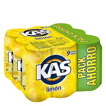 Kas Refresco de limón Pack 9 x 33 cl