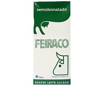 Feiraco Leche Semidesnatada Brik 1 litro