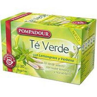 Pompadour Té verde Lemongrass Caja 20 monodosis
