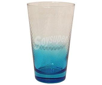 PASABAHCE Vaso de refrescos y agua modelo Petek, con capacidad de 40 centílitros y de color azul efecto degradado 1 Unidad