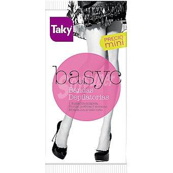 Taky Basyc bandas de cera depilatorias caja 8 unidades 8 unidades