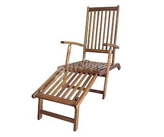Ploos Tumbona plegable para jardín modelo Malaga. Fabricada en madera de Acacia 100% FSC y medidas: 140x56x94.5 centímetros 1 unidad