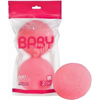 Suavipiel Esponja de baño Baby Soft bolsa 2 unidades Bolsa 2 unidades