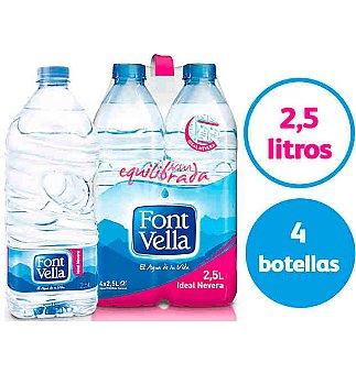 Font Vella Agua mineral Pack 4 botellas x 2,5 l