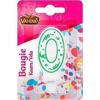 Vahiné Vela de cumpleaños número 0 colores surtidos blister 1 unidad blister 1 unidad