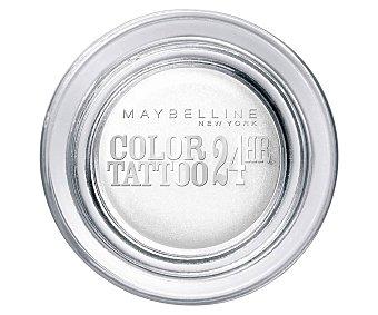 Maybelline New York Estuche de sombra de ojos tono Eternal silver Color tattoo 24 h color tattoo 24H