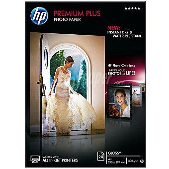 HP Papel fotográfico Glossy Premium Plus 20 hojas A4 300 g/m² 300 g