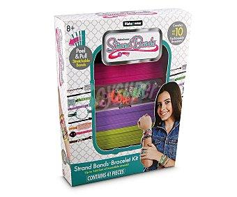 GIOCHI PREZIOSI Kit para crear brazaletes Strand Bands, incluye gomas de 12 colores diferentes y accesorios 1 unidad