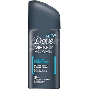 Dove Desodorante For Men Clean Comfort tamaño viaje Spray 35 ml