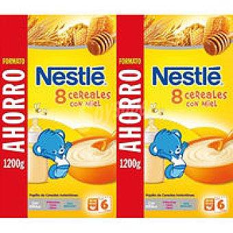 NETSLE Duplo Papillas 8 cereales con miel 2x1200g