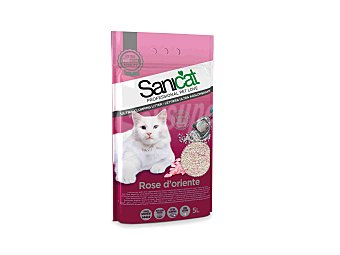 SaniCat Lecho para gatos Rose dorient 5 l
