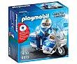 Escenario de juego Moto de policía con luces led, City Action 6923 playmobil  Playmobil