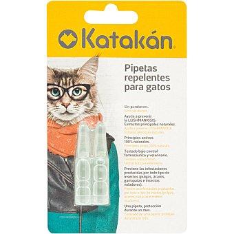 Katakán Pipetas repelentes para gatos envase 2 unidades 1,5 ml
