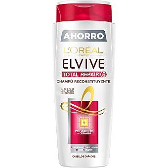 Elvive L'Oréal Paris Champú Total Repair 5 reconstituyente con pro-queratina + ceramida para cabello dañado frasco 700 ml Frasco 700 ml
