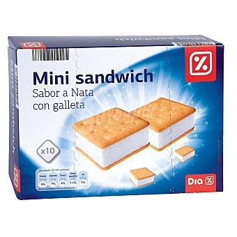 DIA Helado mini sandwich sabor nata con galleta Caja 12 uds 310 gr