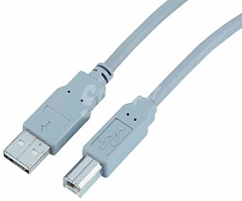 Auchan Cable USB A-B Gris 5 Metros