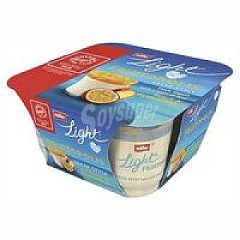 Muller Yogur griego 0% con melón-fr.pasión Pack 4x130 g