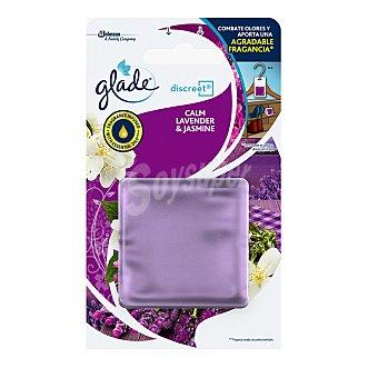Glade Discreet ambientador lavanda & jazmín recambio 1 ud