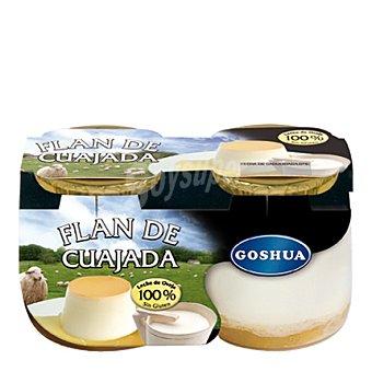 Goshua Flan de cuajada Pack 2x125 g