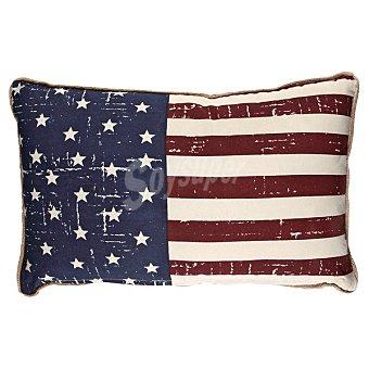 CASACTUAL Cojín Azul y rojo con bandera de Estados Unidos