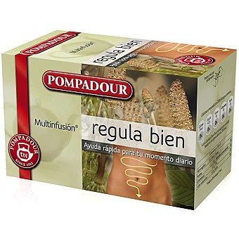 Pompadour Multinfusión infusión Regula Tea para el tránsito intestinal 20 filtros Estuche 30 g