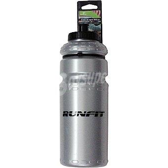 RUNFIT 4016 Bidón de agua en color gris para ciclistas 800 ml