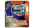 Recambio de cuchillas 5 hojas para maquinilla de afeitar  Blister 6 unidades Gillette Fusion Proglide