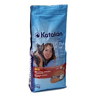 KATAKÁN Alimento mix para gatos con carne, verdura y cereales Bolsa de 2 kg