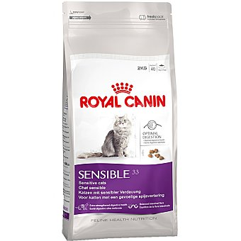 ROYAL CANIN SENSIBLE Alimento especial para gatos con sensibilidad digestiva con arroz bolsa 2 kg Bolsa 2 kg