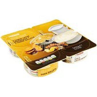 Eroski Natillas surtidas Pack 4 uds de 125 g