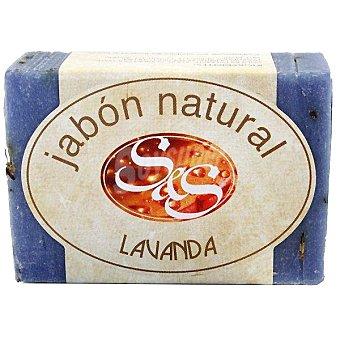 S&S Pastilla de jabon natural de Lavanda 100 g