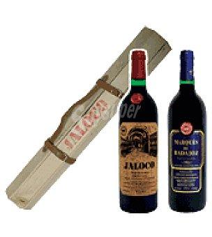 Marqués de Badajoz Estuche de Vino tinto Gran Reserva Cazador Jaloco + Reserva Pack de 2x75 cl