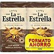 café molido mezcla intenso mitad natural mitad torrefacto formato ahorro 500 g 2x250g La Estrella