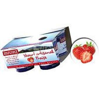 IBASKI Yogur batido de fresa Pack 4x125 g