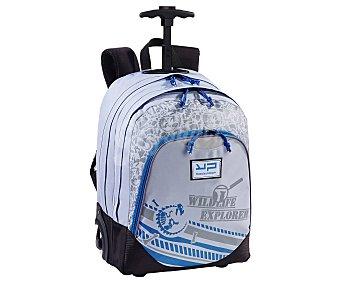 Bodypack Mochila trolley de gran capacidad, con estrucutra de tela, 2 ruedas luminosas, asas acolchadas extensibles y amplios bolsillos frontales con cierres de cremallera BODYPACK. Este producto dispone de distintos modelos o colores. Se venden por separado SE SURTIRÁN SEGÚN EXISTENCIAS