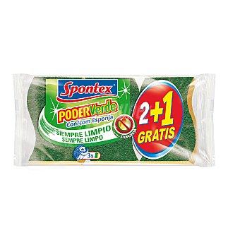 Spontex Estr. fibra c/esponja verd 2 UNI