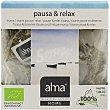 Tisana pausa y relax ecológica caja 15 bolsitas biodegradables home  Alma
